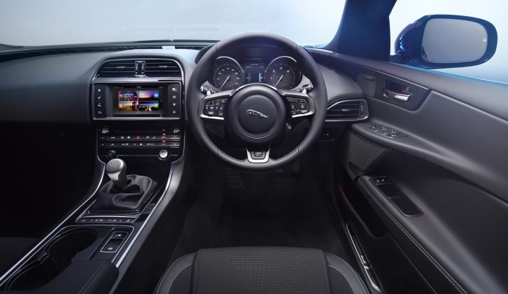 Get in the Jaguar XE and it feels well-built, but rear-seat space is bettered by premium and mainstream rivals