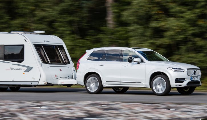 The XC90's 1969cc engine produces 222bhp and 347lb ft torque, yet we still achieved 26.1mpg when towing