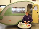 Ed Diment and his team spent 1000-1200 man-hours building the full-size teardrop caravan
