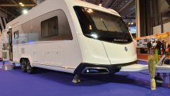 Its stylish, modern looks were influenced by the Caravisio concept, but they can't disguise the fact that this is a very big caravan