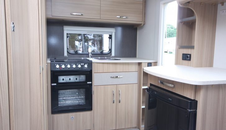 The Vision 380 uses a traditional layout, with the well-specced kitchen across the back