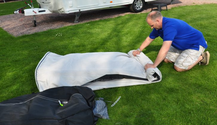 Inflatable awnings couldn't be easier or quicker to put up, and this one packs away easily as well
