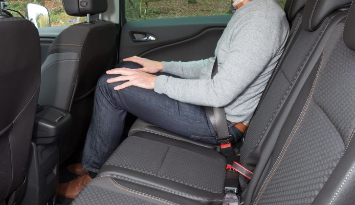 There's good head- and legroom in the middle row, and air vents in the door pillars should help you stay warm or cool as required