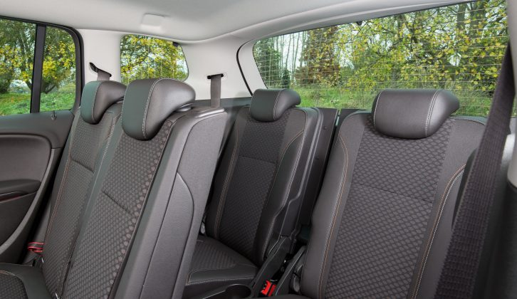 The Vauxhall Zafira Tourer's rearmost seats are probably best reserved for children