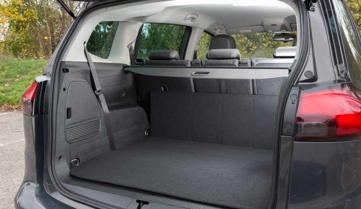 Fold the third row of seats to reveal a very useful 710-litre boot capacity with a depth of 93cm