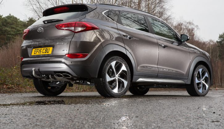 The 19in wheels fitted to our test car look great, but hurt the Tucson's ride, plus road noise was a little too intrusive