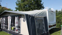 The Hutsons got their three-year-old Isabella awning altered to fit their new caravan