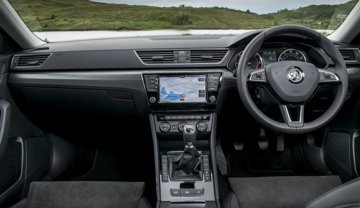 The cabin is a comfy, hushed and peaceful place, even at motorway speeds