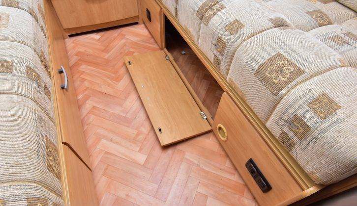 Check the floor for any sign of delamination or damp