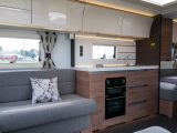 With its clean lines, the offside kitchen feels spacious and has a separate oven and grill
