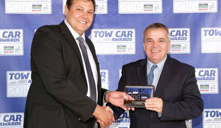Suzuki's head of press and PR, Alun Parry, took home the Vitara's trophy for Best Ultralight Tow Car