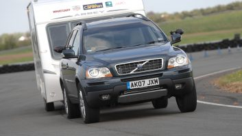 The Volvo XC90 makes a brilliant tow car: it's very stable, and the D5 engine offers tremendous pulling power