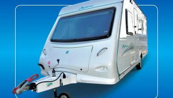 The stainless-steel grabhandles are an upmarket feature on these entry-level caravans
