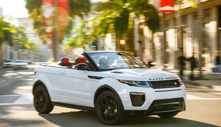 The Range Rover Evoque tows well so the cabrio version could be a hit, too