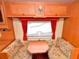 The offside dinette in the Applause is easily converted into a single bed – also, the Omni-Step was fitted as standard so ensure the mover works