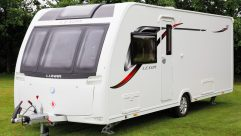 This 2017-season, single-axle four-berth has an MTPLM of 1440kg – and a brand-new panoramic front window