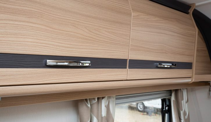There's graphite detailing on the overhead lockers in the Coachman Pastiche 520