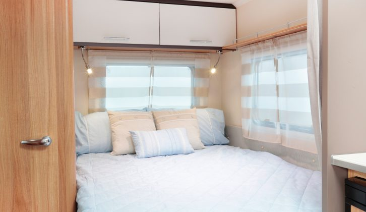 Check out the bedroom of the Caravelair Antarès 335