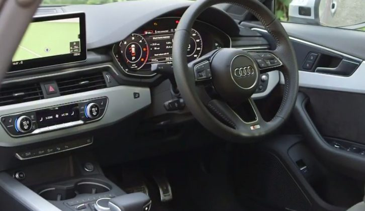 The interior makes the Audi A4 a lovely place to be