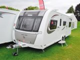 Despite its width, we don't think this twin-axle Elddis looks too big, thanks to the sleek decals and two-tone front