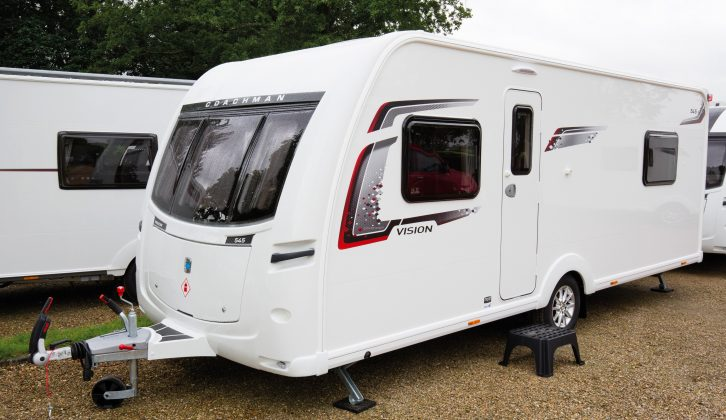The triple front window gives the 2017-season Coachman Vision 545 a smart look