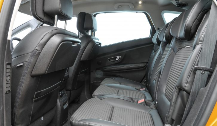 One gripe we have is a lack of legroom in the rear, while the third row in the Grand Scénic is really only for children