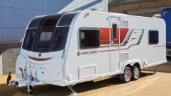This twin-axle, 2017-season Bailey caravan rides on an Al-Ko chassis with an AKS hitch, ATC and shock absorbers