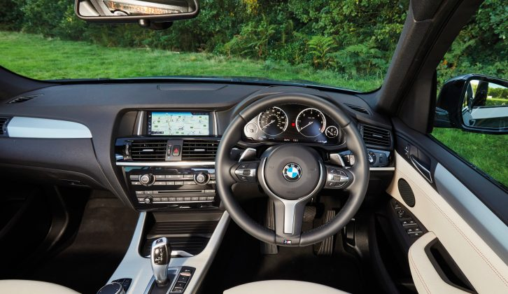 The dash is smart and iDrive is easy to use, but options soon pile on the pounds – Apple CarPlay is £235, lane change warning is £440 and xenon headlights are £610
