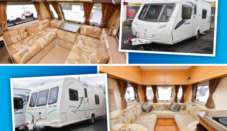 Both these used caravans for sale at under £12,000 represent great value and have a useful amount of living space