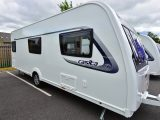 We're pleased to see all the service points on the offside of this Compass caravan