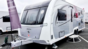 The silver sides are new and give the 2017-season Buccaneer caravans a distinctive, upmarket look