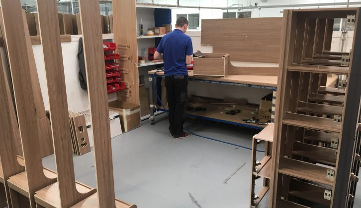 All Coachman interior furniture is built up from scratch by a team of craftsmen