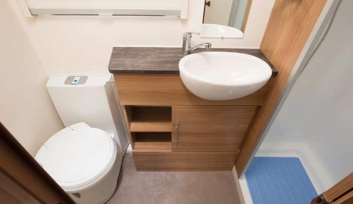 For a central/side washroom, the Bailey's is a surprisingly good size, with standard kit including an electric-flush loo, a clear window and a mirror