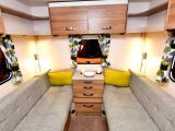 The roomy triple-aspect rear lounge is great for the kids, is well lit and has plenty of storage