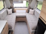 This grey upholstery, seen here in a 2018 Adria Altea 362 LH Forth, is the main update to the Altea range for the new season