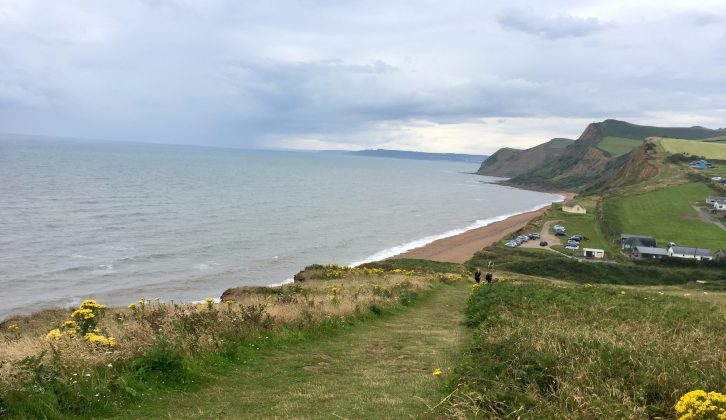 When the weather cleared, the views near Eype were typically breathtaking
