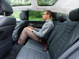 Even tall passengers will be happy with the space in the E-Class Estate, despite the sunroof robbing headroom
