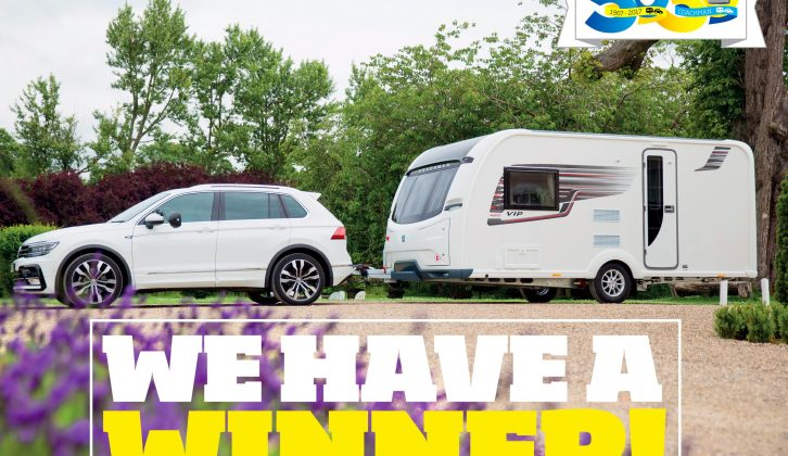 From the thousands of entries received, one astonished reader has won a 2018 Coachman VIP 460!
