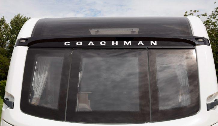 Coachman believes that the panoramic front window is the largest on the market – it certainly floods the lounge with light