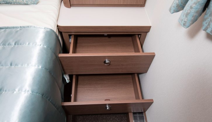 Each occupant also gets a shelf and drawers, as well as a reading light