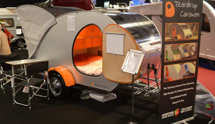Head to the Adventure Leisure Vehicles stand to see the new Teardrop