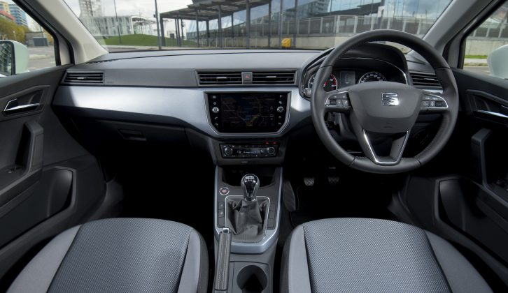 We like the design of the dashboard and space is good, but we're less keen on the hard plastics