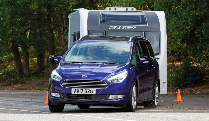 The four-wheel-drive Ford Galaxy on test has an 1841kg kerbweight