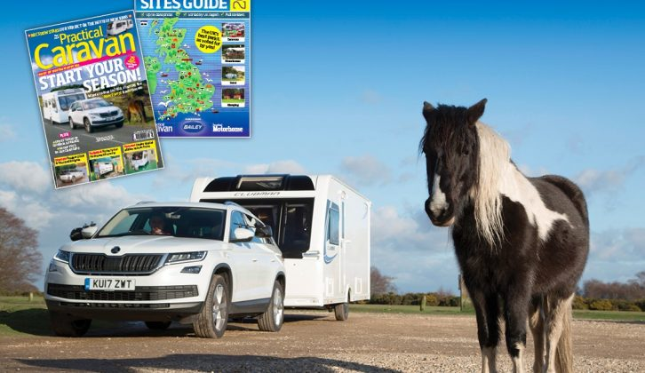 Get your free Top 100 Sites Guide with the May 2018 issue of Practical Caravan
