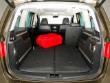 All five rear seats fold flat into the floor, creating a cavernous 2297-litre boot