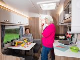 The Swift Sprite Major 6's side dinette will seat two adults in comfort