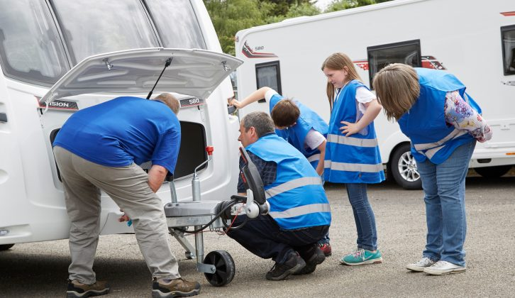 The Walker family received a thorough run-through of all the van's systems so that they are ready to hit the road in their new Coachman Vision 580
