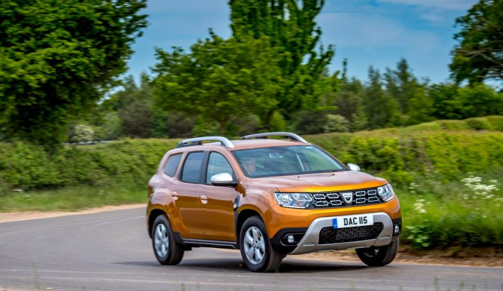 Exterior view of the new Dacia Duster SCe 115 4x2 Comfort. First drive by David Motton for Practical Caravan