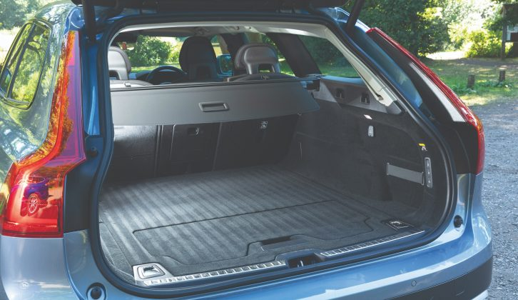 Although the boot space is big but not class-leading, the rear of the Volvo's cabin is huge