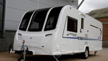The new Bailey Pegasus Grande Brindisi is a rear island bed four-berth. It is based on an Al-Ko chassis, weighs 1490kg and ATC comes as standard